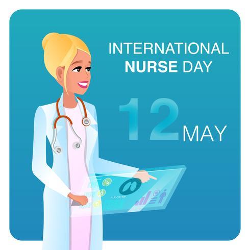 Internationell sjuksköterskedag vektor