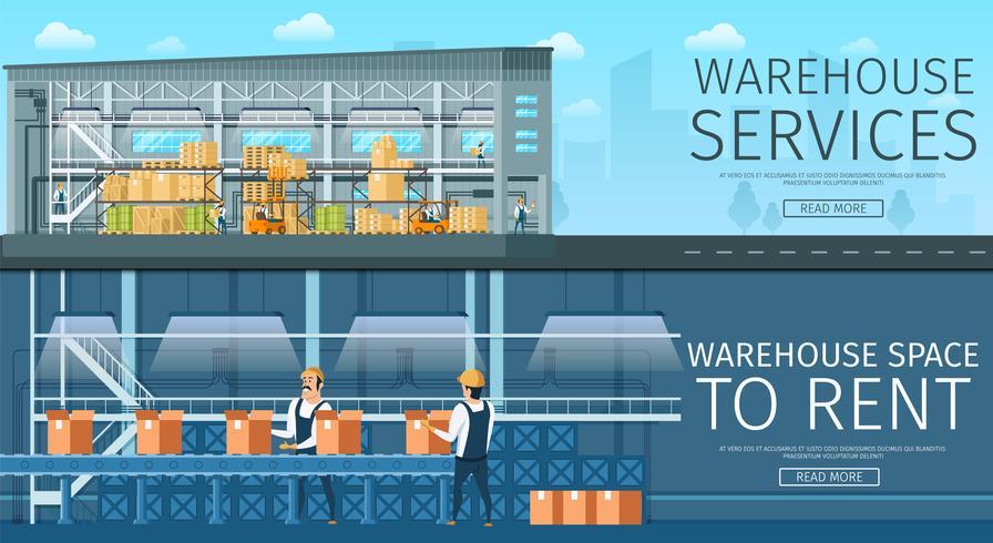 Warehouse Service mieten vektor