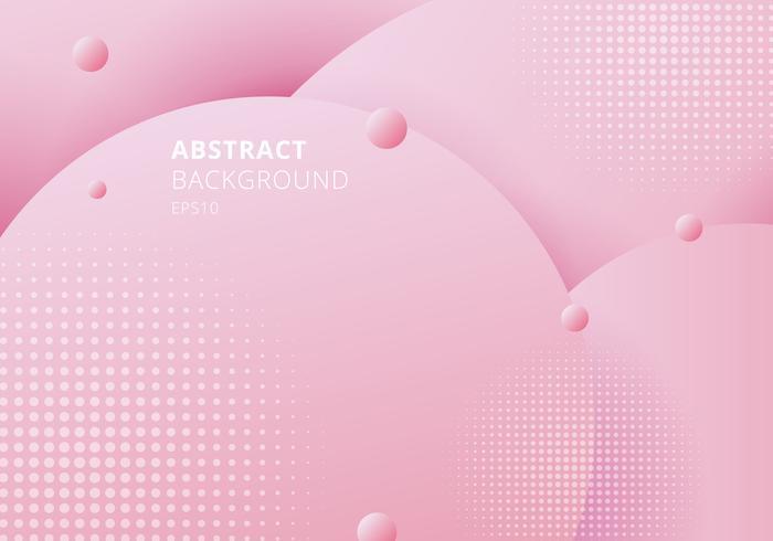 Rosa pastellfärgade vätskecirklar med halvton konsistens. vektor
