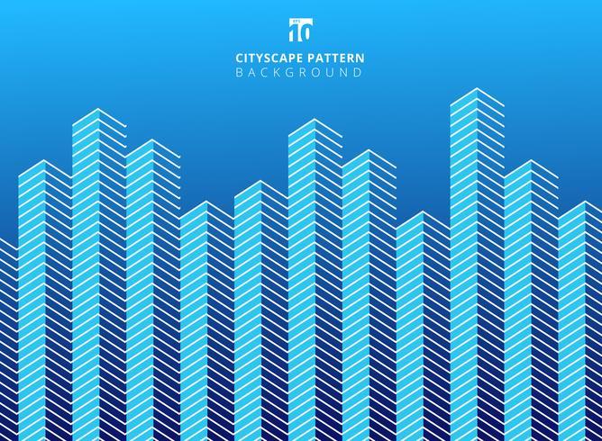 Mönstrade linjer mönster på blå bakgrund vektor