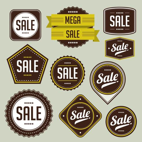 Verkauf-Abzeichen-Set vektor