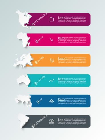 Kontinentale Infografiken Informationen vektor