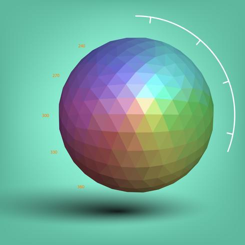 3 Dimension Farbkugel vektor