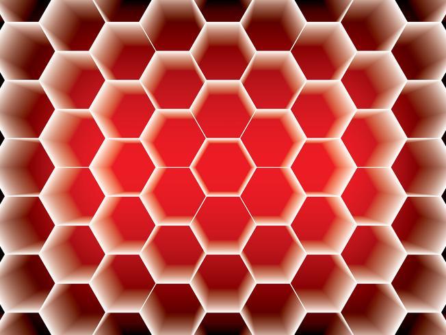 Bienenwaben-Hexagon-Design vektor