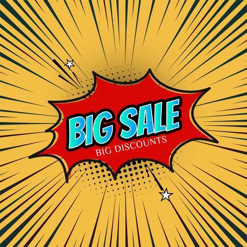 Abstrakt försäljning marknadsföring mall vektor