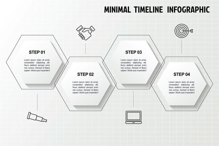 Behive Infografik-Vorlage vektor
