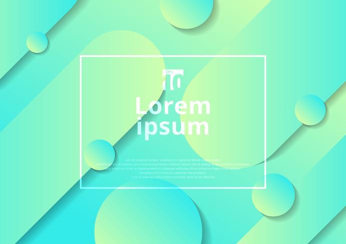 Diagonal bakgrund för grön färgövergång med rundade former vektor