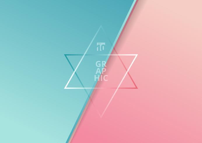 Blaue und rosa Steigung der diagonalen Papierschnitt-Art vektor
