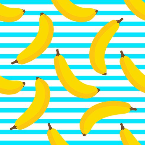 Bananen-nahtloser Hintergrund vektor