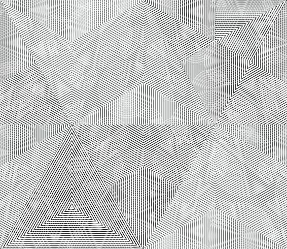 Geometrische einfarbige Linien vektor