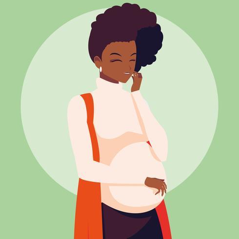 schwangere Frau Avatar Charakter vektor