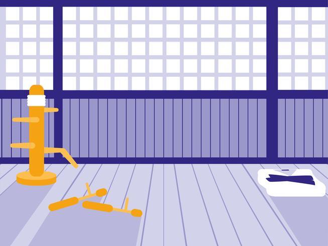 Martials Arts Dojo-Szene vektor
