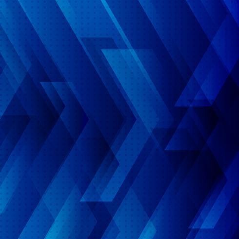 Blauer Technologiehintergrund mit großem Pfeiltechnologiekonzept vektor