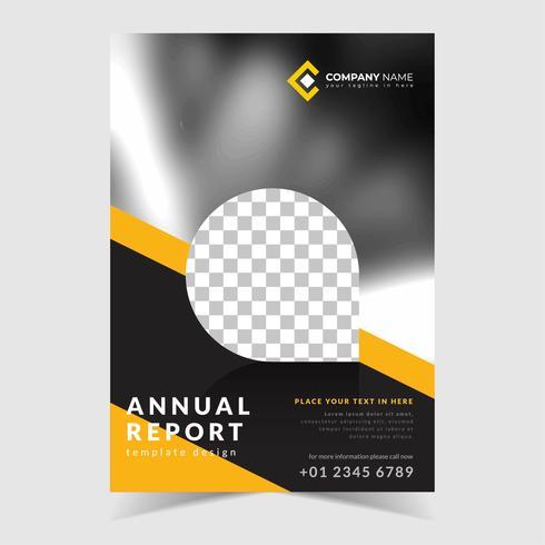 Abstrakt årsrapportdesign vektor