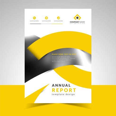 Entwurfsvorlage für den Jahresbericht vektor