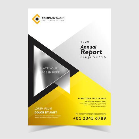 Gul årsrapportmall vektor