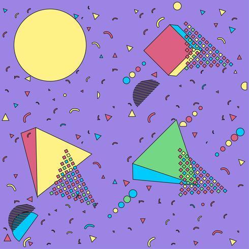 Memphis Illustration Hintergrund vektor