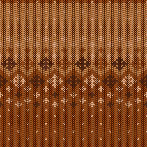 Geometriskt stickat mönster med upprepande snöflingor vektor
