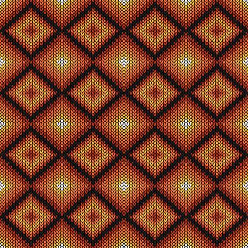 Geometrisk diamant stickad mönster vektor