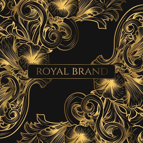 Luxushintergrund mit Goldfarbe vektor