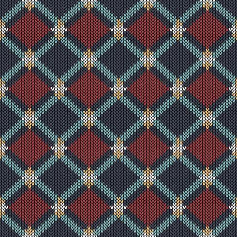 Geometriska etniska stickade mönster vektor