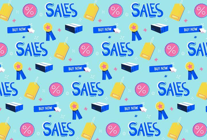 handgezeichnete Verkaufsförderung Muster Hintergrund vektor