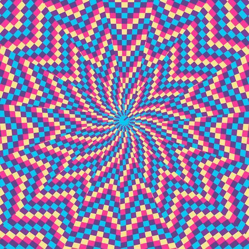 Bakgrund för färgrik form för optisk illusion vektor