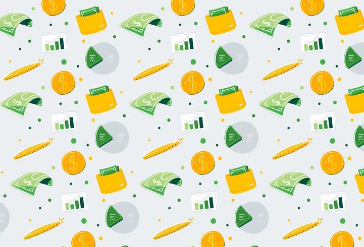 Hand gezeichneter Finanzgeld-Musterhintergrund vektor
