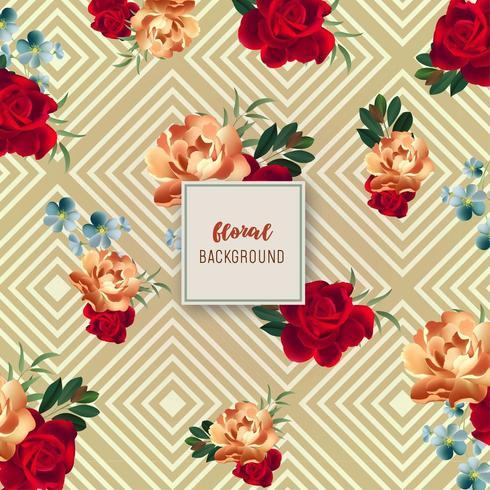 Vintage Floral Hintergrunddesign vektor