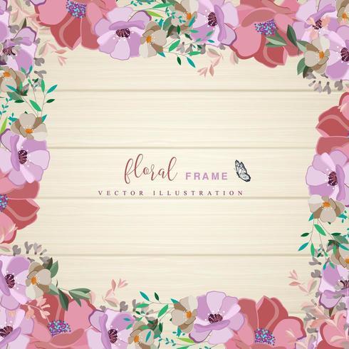 Tropische Blumenrahmenauslegung vektor