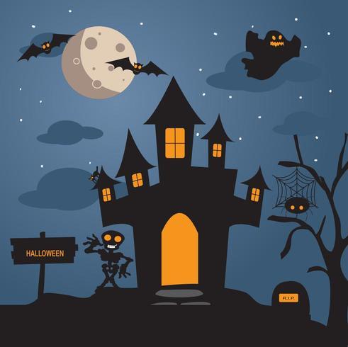 Halloween-Nachthintergrund vektor