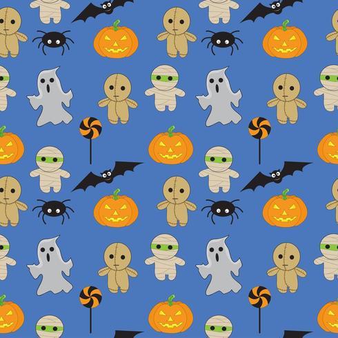 Halloween sömlösa mönster vektor
