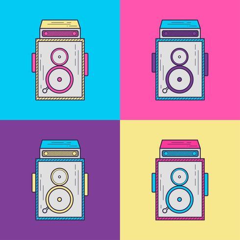 Camera Vintage 90s stil vektor