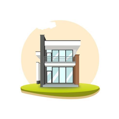Moderne zeitgenössische Villa vektor