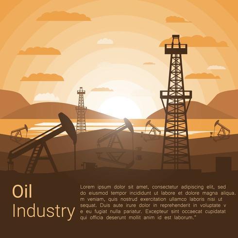 Oljeindustrins affisch vektor