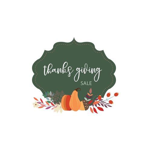 Thanksgiving Sale Kartendesign vektor