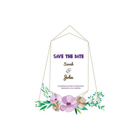 Hochzeitseinladung oder Save the Date Frame vektor