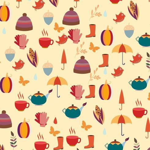 Gemütliche Herbst Hintergrunddesign vektor