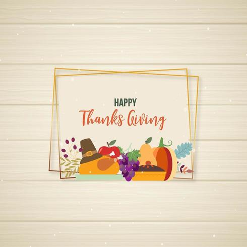 Happy Thanksgiving Rahmendesign vektor