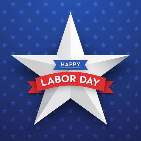 Glad Labor Day Star Vector Card Mall