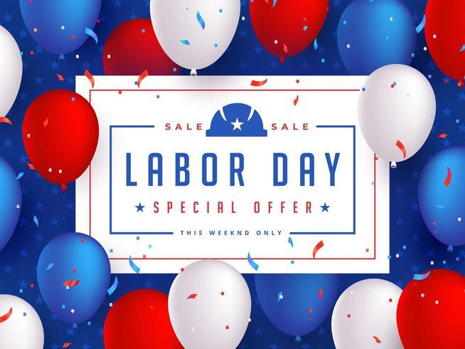 Labor Day Sale Banner Entwurfsvorlage vektor