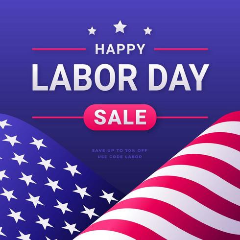 Labor Day Sale Social Media Post Mall vektor