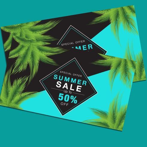 Sommerschlussverkauf Rabatt Flyer Poster vektor