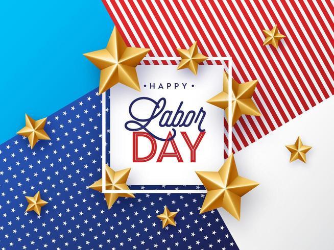 USA Happy Labor Day Papierhintergrund vektor