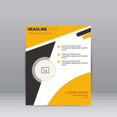 Geschäfts-Zusammenfassungs-Broschüren-Schablonen-Design vektor