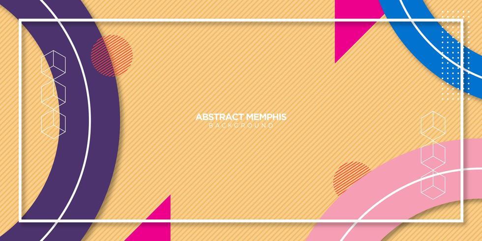 Abstrakter Memphis-Hintergrund vektor