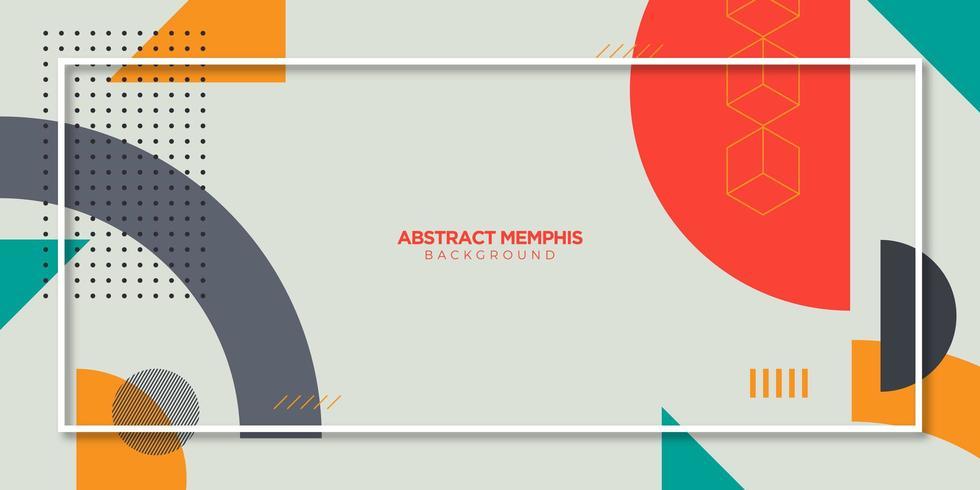Abstrakt Memphis bakgrund vektor