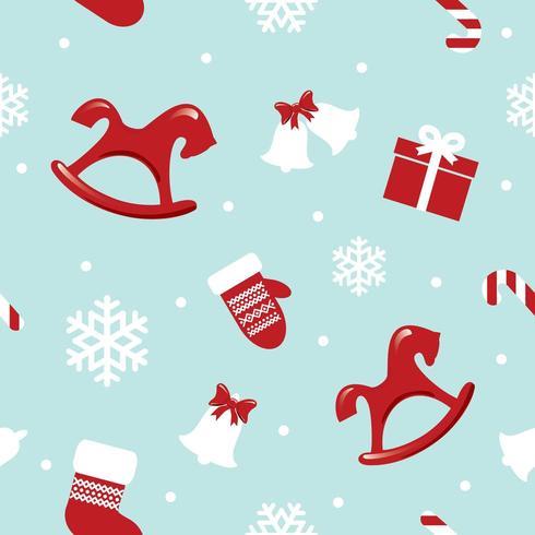 Jul- och nyårsmönster vektor