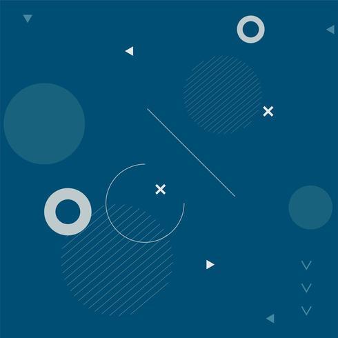 Mörkblå bakgrund av ett cirkulärt mönster vektor