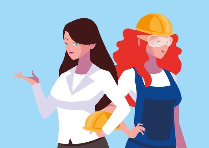 kvinnliga ingenjörer vektor